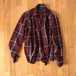 Grunge flannel button up NWOT